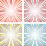 Абстрактный заход солнца иллюстрации Стоковые Изображения
