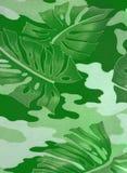 абстрактный зеленый цвет выходит резина завода Стоковые Изображения