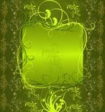 абстрактный зеленый цвет знамени Стоковое Изображение RF