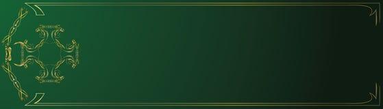 абстрактный зеленый цвет золота знамени Стоковое Фото