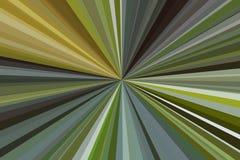 Абстрактный зеленый цвет излучает предпосылку Красочная конфигурация пучка излучения нашивок Цвета тенденции стильной иллюстрации Стоковые Изображения