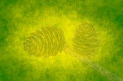 абстрактный зеленый цвет конусов предпосылки Стоковые Изображения RF
