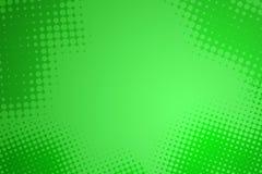 абстрактный зеленый цвет многоточия предпосылки половинный - тон Стоковое Изображение RF