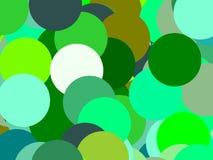 Абстрактный зеленый цвет объезжает предпосылку иллюстрации Стоковые Фото