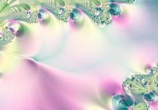 Абстрактный зеленый цвет пинка предпосылки Стоковое Изображение RF