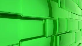 абстрактный зеленый цвет предпосылки 3d Стоковое Изображение