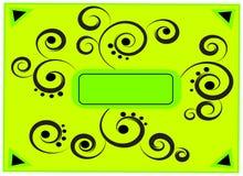 абстрактный зеленый цвет рамки Стоковое Изображение