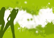 абстрактный зеленый цвет танцоров Стоковая Фотография