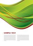 абстрактный зеленый шаблон Стоковая Фотография