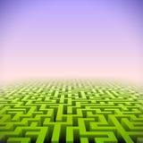 Абстрактный зеленый лабиринт перспективы иллюстрация штока