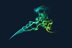 Абстрактный зеленый и голубой дым Стоковое Фото