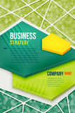 Абстрактный зеленый плакат с предпосылкой треугольника Стоковое фото RF