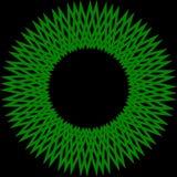 абстрактный зеленый цвет круга Стоковое Изображение RF