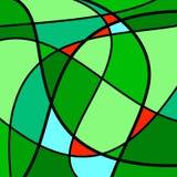 Абстрактный зеленый цвет художественного произведения Стоковые Изображения