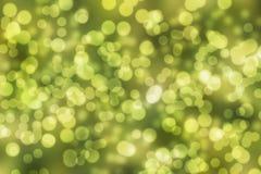 абстрактный зеленый цвет bokeh предпосылки Стоковая Фотография RF