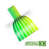Абстрактный зеленый цвет 3d stripes предпосылка вектора Стоковое фото RF