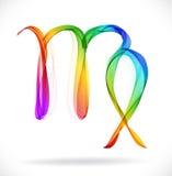 Абстрактный знак зодиака - Virgo цвета Стоковая Фотография