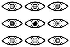 Абстрактный значок глаза иллюстрация штока