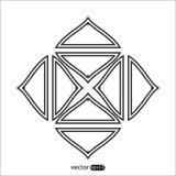 Абстрактный значок логотипа квадрата вектора Стоковое Изображение