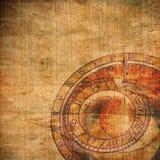 абстрактный зодиак часов Стоковое Изображение