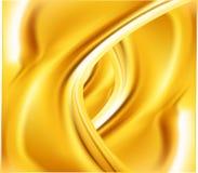 Абстрактный золотой волнистый вектор предпосылки Стоковое Изображение RF