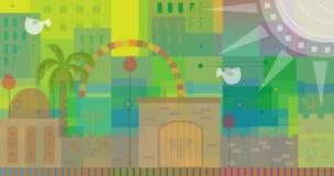 Абстрактный Иерусалим Стоковое Изображение
