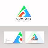 Абстрактный дизайн вектора знака компании значка треугольника потехи Стоковая Фотография