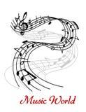 Абстрактный дизайн волны музыки Стоковые Изображения