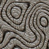 Абстрактный дизайн в муаре металла Стоковая Фотография RF