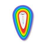 Абстрактный дизайн знамени на белой предпосылке знамя красит сетки иллюстрации кривых никакой вектор радуги белым Стоковое Изображение RF