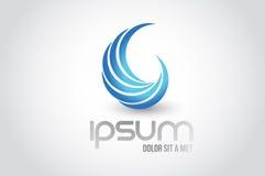 Абстрактный дизайн иллюстрации символа логотипа волны бесплатная иллюстрация