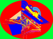 Абстрактный дизайн квадрата круга стоковое изображение rf