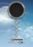 Абстрактный дизайн концепции диктора Стоковая Фотография RF