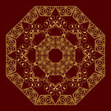 Абстрактный дизайн круговой картины кругло иллюстрация вектора