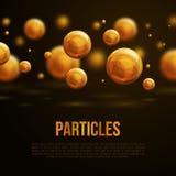 Абстрактный дизайн молекул также вектор иллюстрации притяжки corel Стоковые Изображения