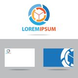 Абстрактный дизайн логотипа компании Стоковые Фото