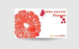 Абстрактный дизайн предпосылки визитной карточки Голубая текстура акварели Стоковые Фото