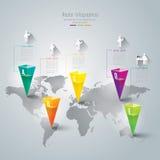 Абстрактный дизайн шаблона infographics. Стоковые Изображения