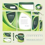 Абстрактный дизайн экологичности для фирменного стиля Стоковые Изображения RF