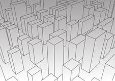 Абстрактный линейный ландшафт города Стоковое Фото