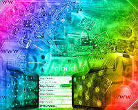 абстрактный интернет Стоковое Изображение
