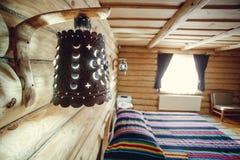 Абстрактный интерьер спальни нерезкости для предпосылки - винтажного фильтра Стоковая Фотография RF