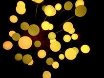 Абстрактный и современный циркуляр освещает предпосылку для украшения Стоковое Изображение