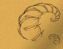 Абстрактный и черный скорпион иллюстрация штока