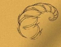 Абстрактный и черный скорпион бесплатная иллюстрация