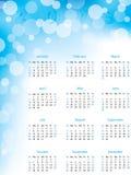 Абстрактный календар пузыря 2013 Стоковое Изображение RF