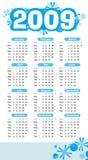 абстрактный календар 2009 Стоковая Фотография RF