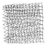 Абстрактный карандаш текстуры треугольников картины Стоковое фото RF