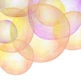 Абстрактный карандаш цвета scribbles предпосылка Стоковые Изображения RF