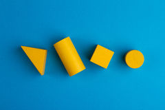 Абстрактный квадратный состав цвета с деревянными блоками Стоковое Фото